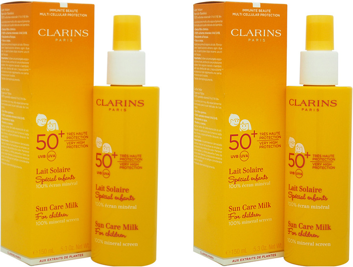 Clarins SPF 50+ High-Protection Sun Care Milk For Children - Set of Two