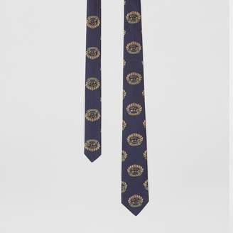 Burberry Slim Cut Archive Crest Silk Tie