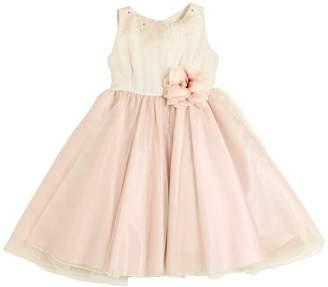 La Stupenderia Embellished Silk & Stretch Tulle Dress