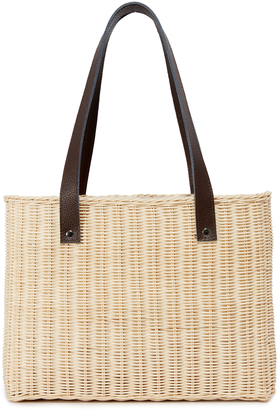 Hat Attack Wicker Basket Bag $115 thestylecure.com