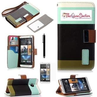 HTC The Case Doctor Get Your Case Lift with The Case Doctor TCD One M7 Colorful PU Leather Wallet with Credit Card Slots + Screen Prote