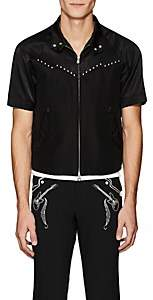 Baracuta Takahiromiyashita theSoloist Men's Embellished Cotton-Silk Jacket - Black