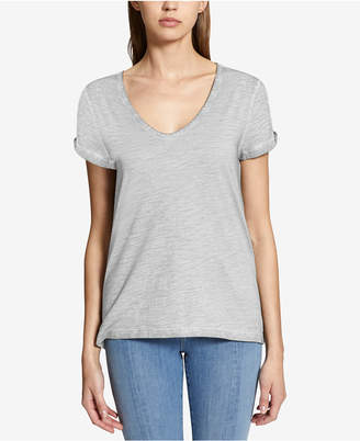 Sanctuary Twist-Sleeve Soft T-Shirt