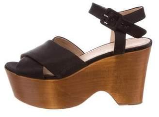 Celine Peep-Toe Clog Sandals