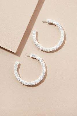 Anthropologie Amerie Beaded Hoop Earrings