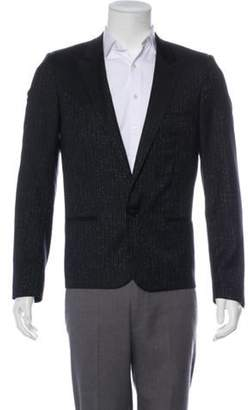 Christian Dior Striped Wool Metallic Blazer black Striped Wool Metallic Blazer