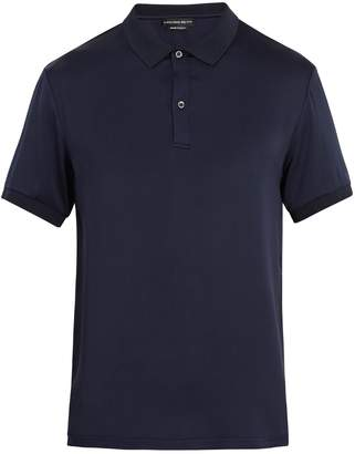 Alexander McQueen Silk-satin polo shirt