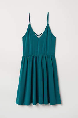 H&M Creped Jersey Dress - Turquoise
