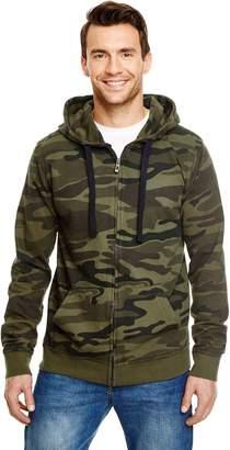 Burnside Camo Full-Zip Hooded Sweatshirt.B8615