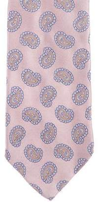 HUGO BOSS Boss by Paisley Print Silk Tie