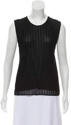 Giorgio Armani Open-Knit Sleeveless Top