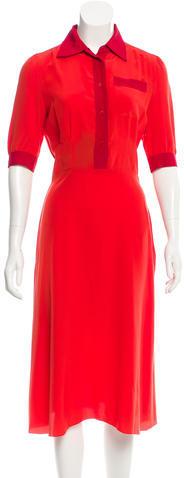 pradaPrada Silk Colorblock Dress w/ Tags
