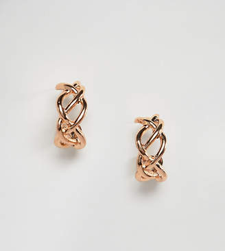 Reclaimed Vintage inspired twisted mini hoop earrings