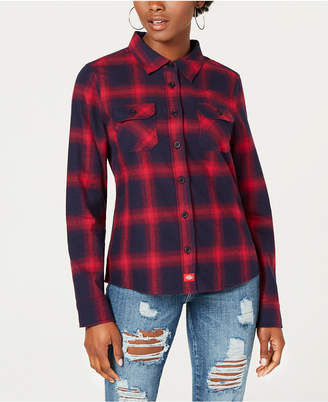Dickies Cotton Logo-Graphic Flannel Shirt