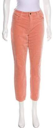 L'Agence Margot Velvet Mid-Rise Skinny Pants w/ Tags