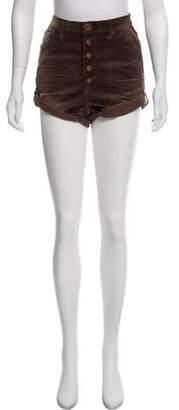 One Teaspoon One x Corduroy Mini Shorts