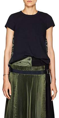Sacai Women's Folkloric-Embellished Cotton T-Shirt