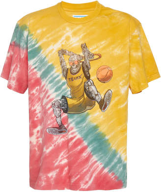 JUST DON Printed Tie-Dye Cotton-Jersey T-Shirt