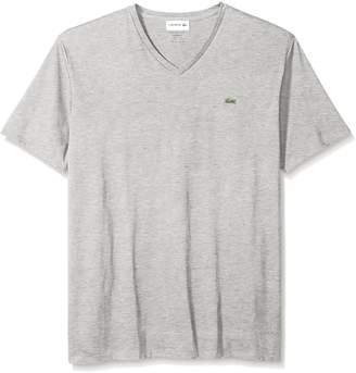 Lacoste Men's Standard Short Sleeve V Neck Pima Jersey T-Shirt