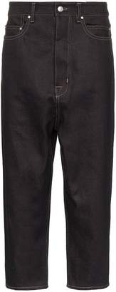 Rick Owens drop crotch cropped jeans