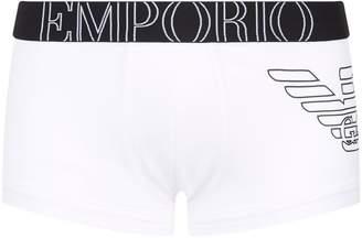 Emporio Armani Eagle Motif Stretch Cotton Boxer Trunks
