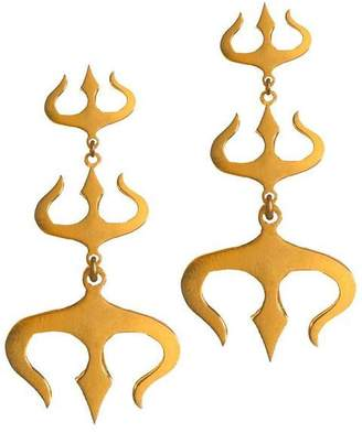 Eina Ahluwalia Sterling Silver Trishul Earrings