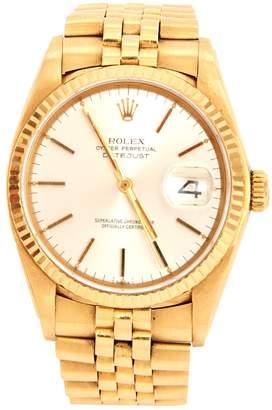Rolex Datejust yellow gold watch