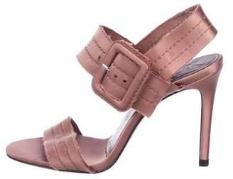 Pedro Garcia Satin Ankle Strap Sandals