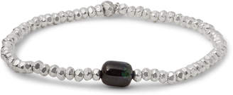 Peyote Bird Sterling Silver Azurite Bracelet