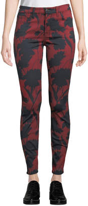 7 For All Mankind Jen7 By The Skinny Floral-Print Jeans