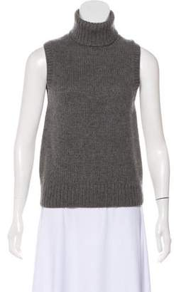 Michael Kors Sleeveless Cashmere Turtleneck