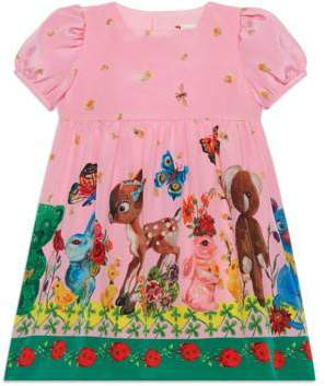 Gucci Baby animals print silk dress
