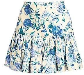 Zimmermann Women's Moncur Floral Flounce Mini Skirt