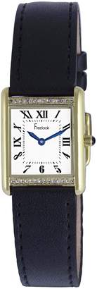 Freelook Women's HA1531G/1B Black leather Band Watch.