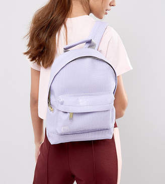 Mi-Pac Exclusive Faux Croc Mini Backpack in Lilac