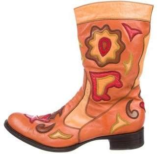 Gianni Barbato Patch-Appliqué Cowboy Boots