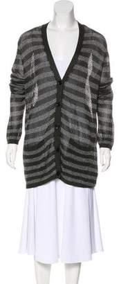 Burberry Striped Knit Cardigan