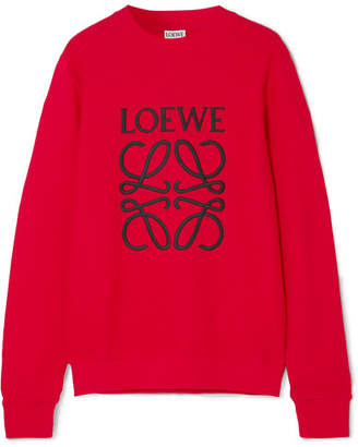 Loewe Embroidered Cotton-terry Sweatshirt