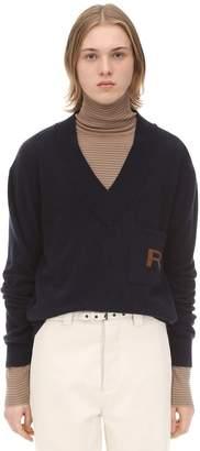 Rochas Wool & Cashmere V Neck Knitwear