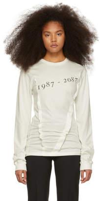 Yang Li Off-White Dates Long Sleeve T-Shirt