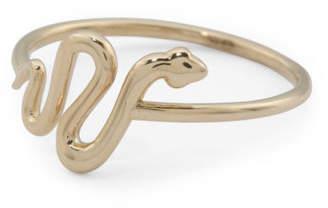 Made In Italy 14k Gold Snake Ring