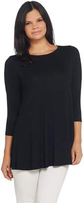 Joan Rivers Classics Collection Joan Rivers Empire Waist Tunic with 3/4 Sleeves