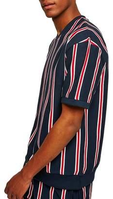 Topman Stripe V-Neck T-Shirt