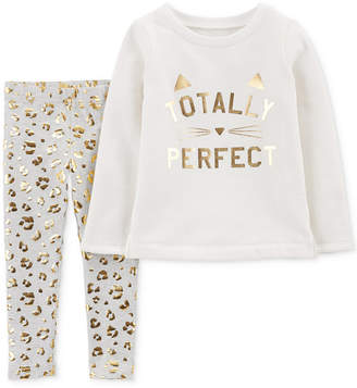 Carter's Baby Girls 2-Pc. Perfect Top & Printed Leggings Set