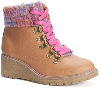 Mudd® Girls' Colorful Wedge Boots $59.99 thestylecure.com