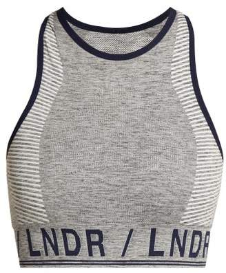 Lndr - Aero Seamless Sports Bra - Womens - Grey Multi