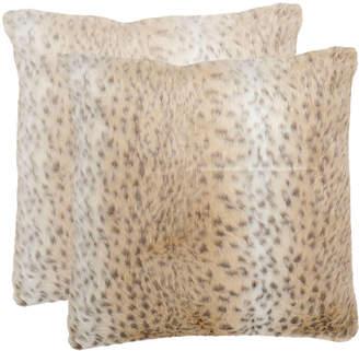 Safavieh Snow Leopard Pillows, Set of Two