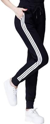 COCOLEGGINGS Womens Elastic Waist Cuffed Jogger Sweatpants Running Pants XXL
