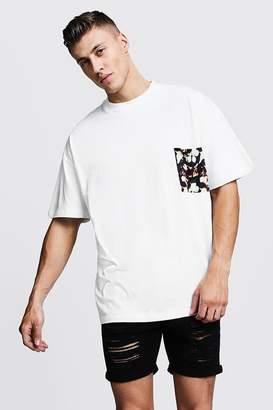 boohoo Oversized T-Shirt With Pocket Print