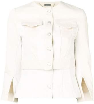 Alexander McQueen panelled denim jacket